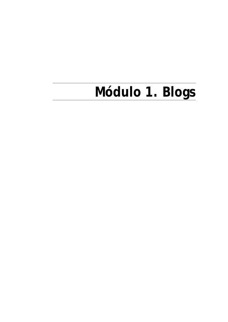 Módulo 1. Blogs