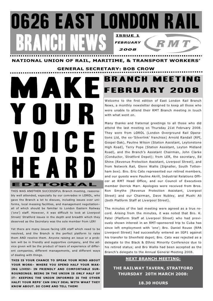 ISSUE 1   BRANCH NEWS                                                           FEBRUARY                                  ...