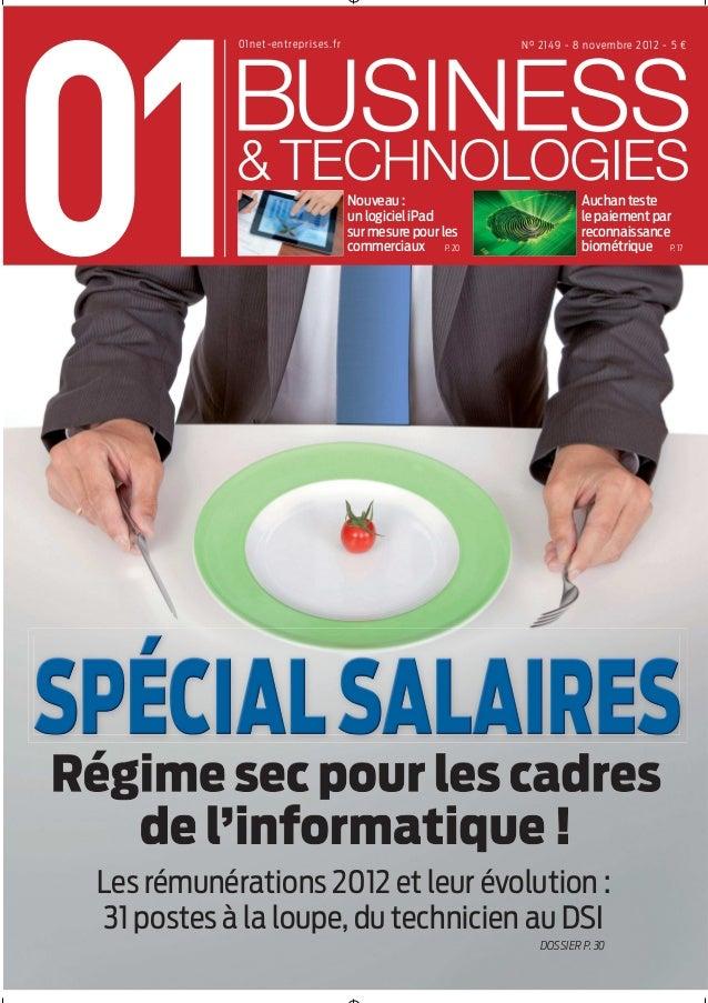 01Business&Technologies n°2149 - Spécial Salaires 2012
