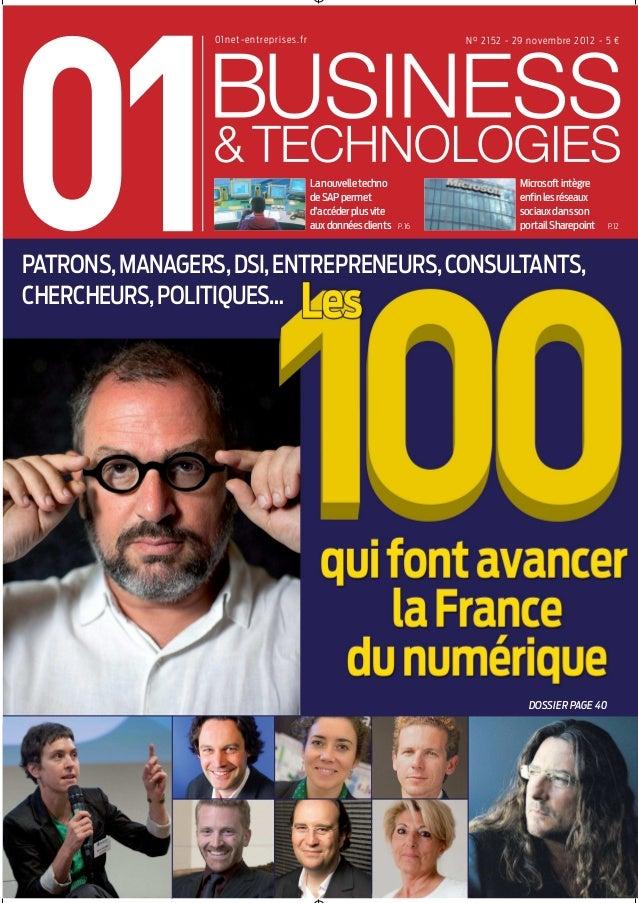 01Business&Technologies n°2152 - Les 100 qui font avancer la France du numérique