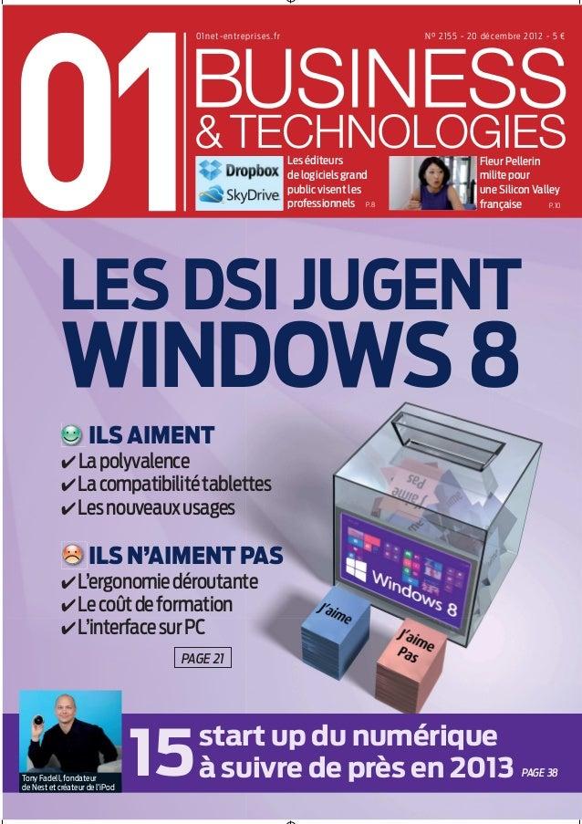 01 business&technologies n°2155 - Les DSI jugent Windows 8