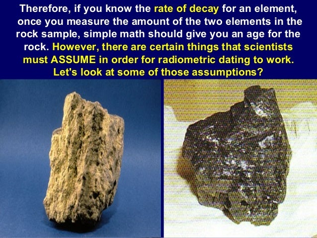 sedimentary rocks radiometric dating