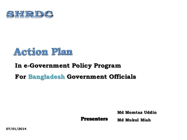 In e-Government Policy Program For Bangladesh Government Officials Md Momtaz Uddin Md Mukul Miah