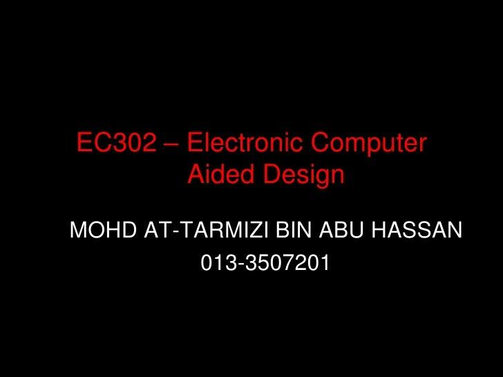 EC302-Introduction