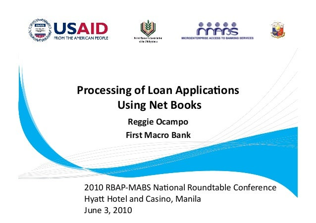 Loan Applications using Netbooks