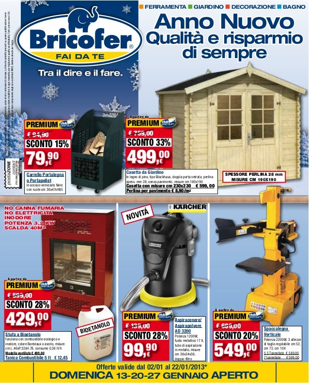 Volantino gennaio 2013 for Bricofer catalogo