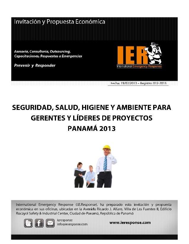 01 gerentes y líderes de seguridad, higiene y ambiente panamá 2013