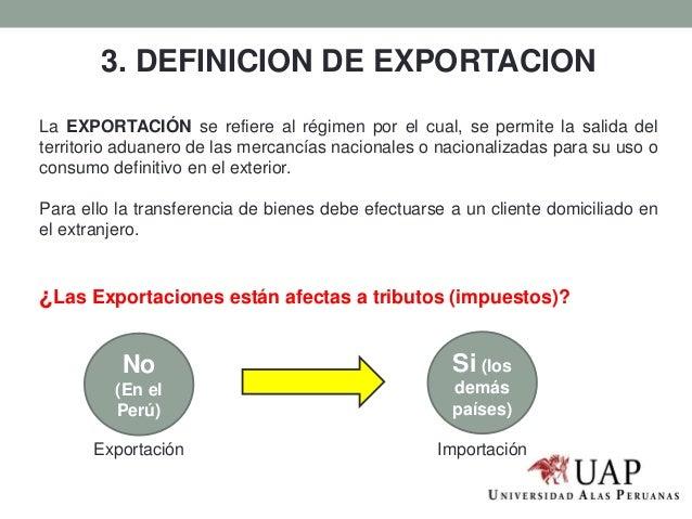 Image gallery exportacion definicion for Significado exterior
