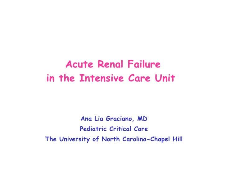 01 Graciano   Acute Renal Failure In The Intensive Care Unit