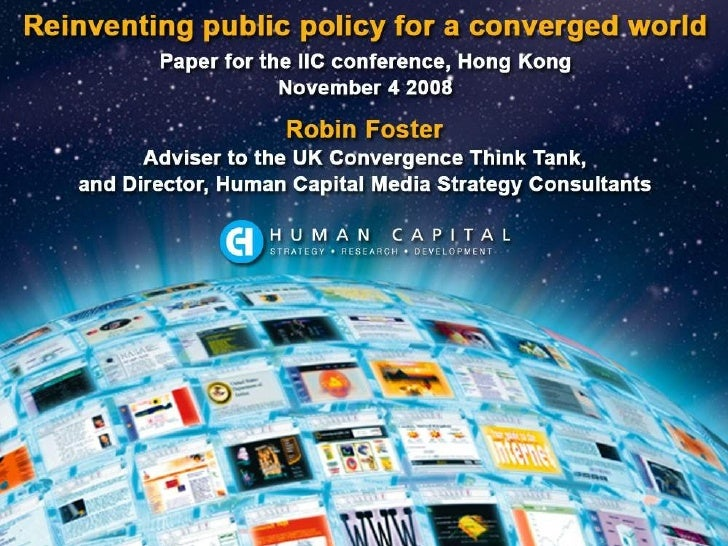 Reinventing public policy for a converged world