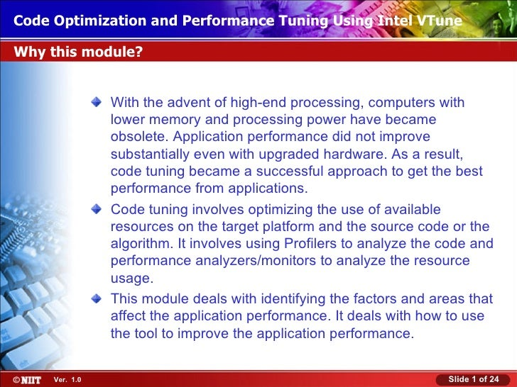 Code Optimization and Performance Tuning Using Intel VTuneInstalling Windows XP Professional Using Attended InstallationWh...