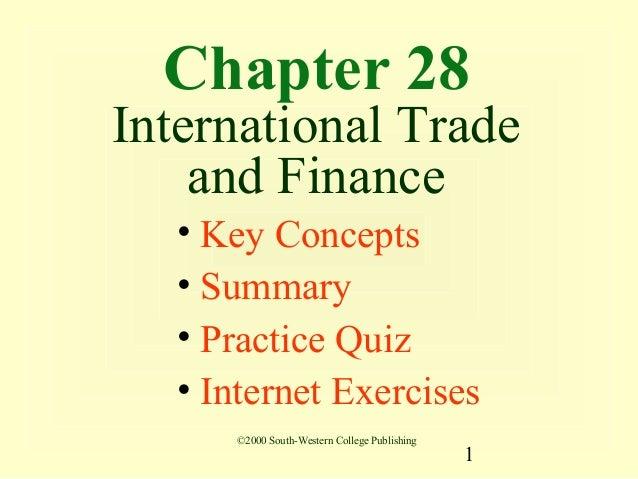 01 international trade and finance