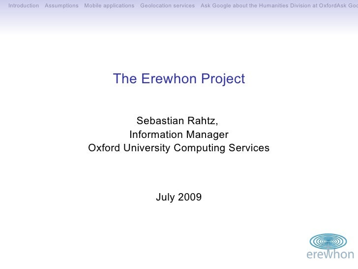 Erewhon Project