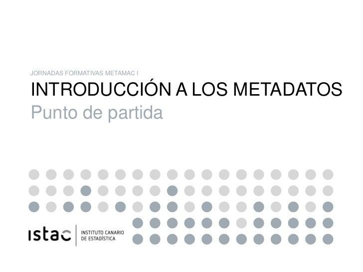 SDMX: 01 introducción a los metadatos