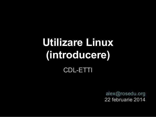 Introducere în Linux