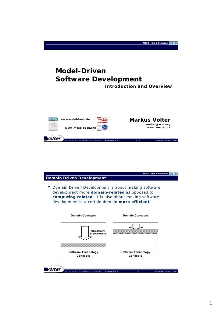 MDSD Intro & Overview          Model-Driven      Software Development                                                   In...