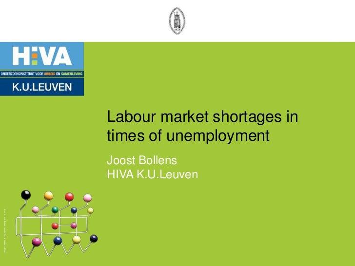 Labour market shortages in times of unemployment