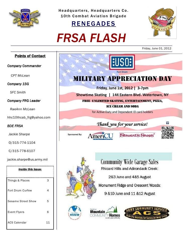 FRSA FLASH 01 June 2012