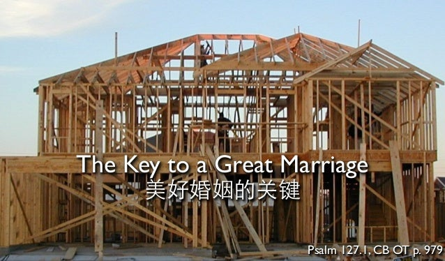 The Key to a Great Marriage 美好婚姻的关键 Psalm 127.1, CB OT p. 979