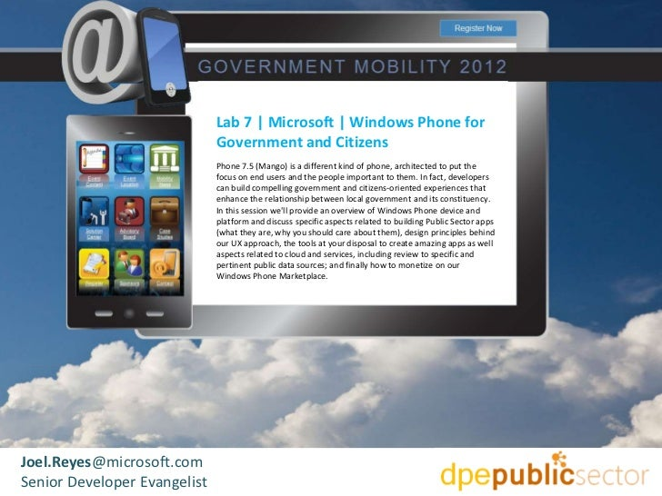 microsoft  windows phone for government and citizens