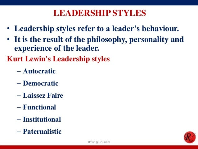 leadership and behaviour styles Leadership behaviors leadership behaviors are easy to understand, though perhaps requiring effort to perform consistently behavior change gives every leader a path.
