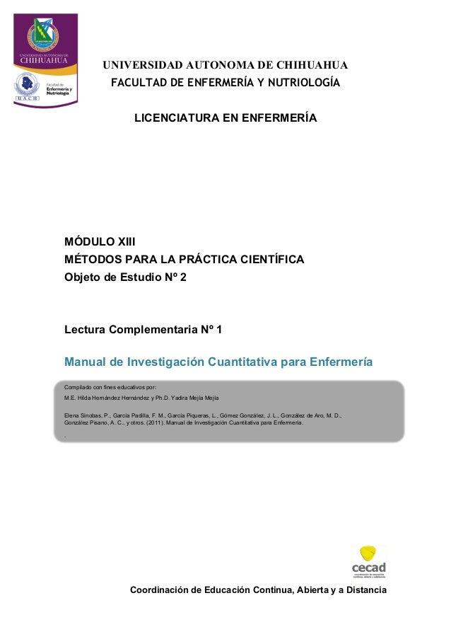 Coordinación de Educación Continua, Abierta y a DistanciaUNIVERSIDAD AUTONOMA DE CHIHUAHUAFACULTAD DE ENFERMERÍA Y NUTRIOL...