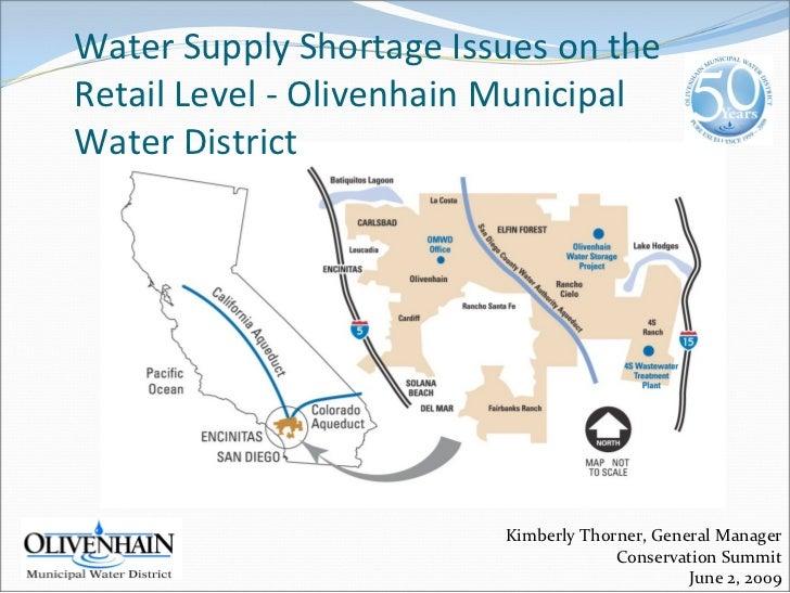 WaterSupplyShortageIssuesonthe RetailLevel‐ OlivenhainMunicipal WaterDistrict                               Kim...