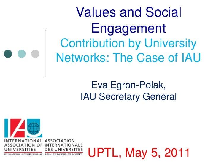 El aporte de las redes universitarias que representan distintos entornos sociales