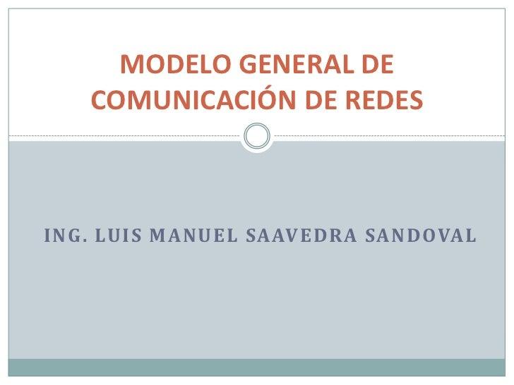MODELO GENERAL DE   COMUNICACIÓN DE REDESING. LUIS MANUEL SAAVEDRA SANDOVAL
