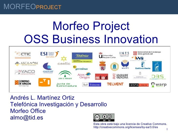 MORFEOPROJECT                       Morfeo Project                  OSS Business Innovation INNOVAR PARA GANAR           A...