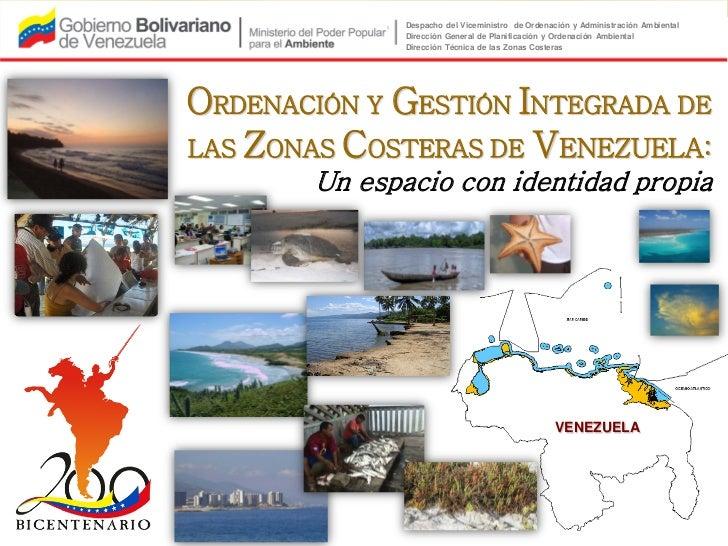 Plan de ordenación y gestión integrada de las zonas costeras de Venezuela (2011)