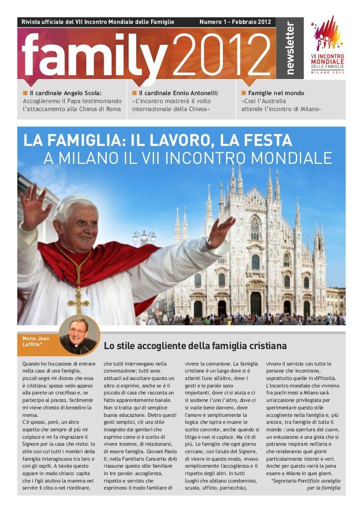 Newsletter ufficiale del VII Incontro mondiale delle famiglie