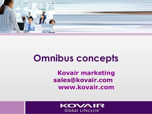 Omnibus concepts  Kovair marketing  sales@kovair.com  www.kovair.com
