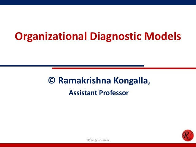 Organizational Diagnostic Models      © Ramakrishna Kongalla,          Assistant Professor               Rtist @ Tourism