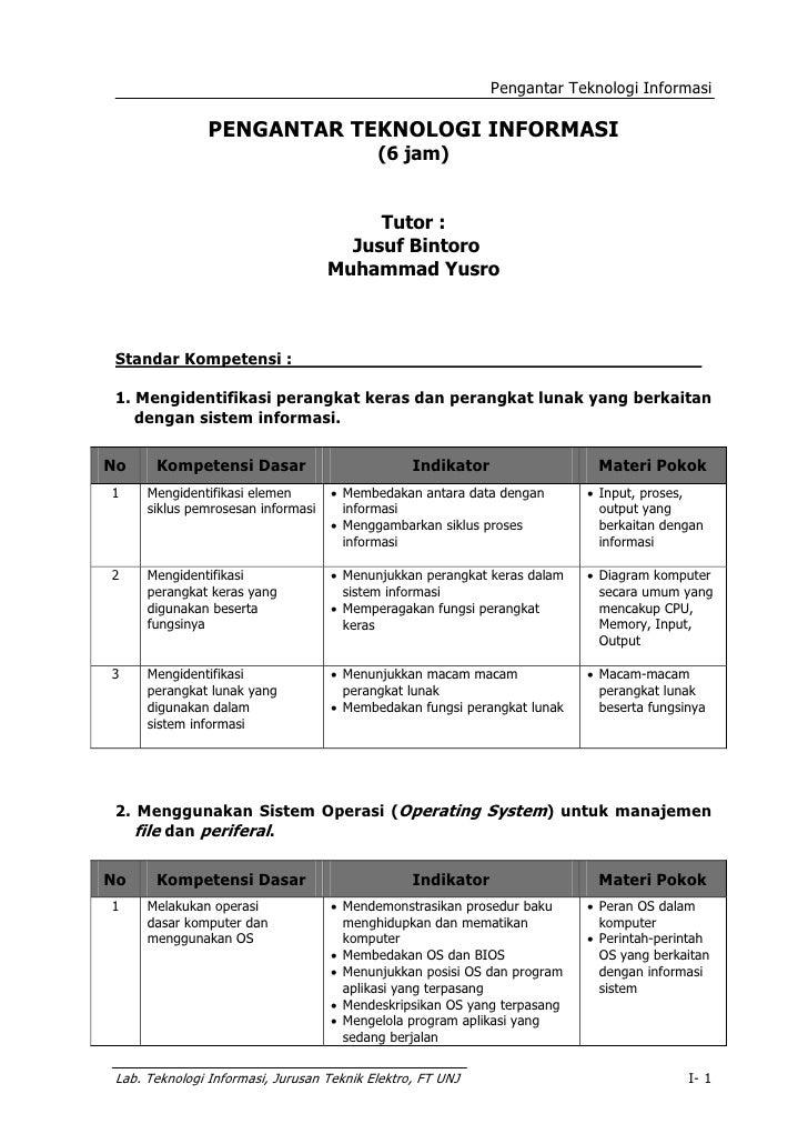 Pengantar Teknologi Informasi                  PENGANTAR TEKNOLOGI INFORMASI                                            (6...