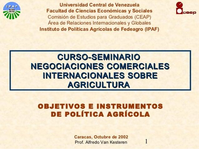 Universidad Central de Venezuela    Facultad de Ciencias Económicas y Sociales     Comisión de Estudios para Graduados (CE...