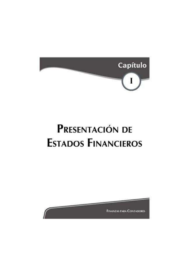 PRESENTACIÓN DE ESTADOS FINANCIEROS BASICO