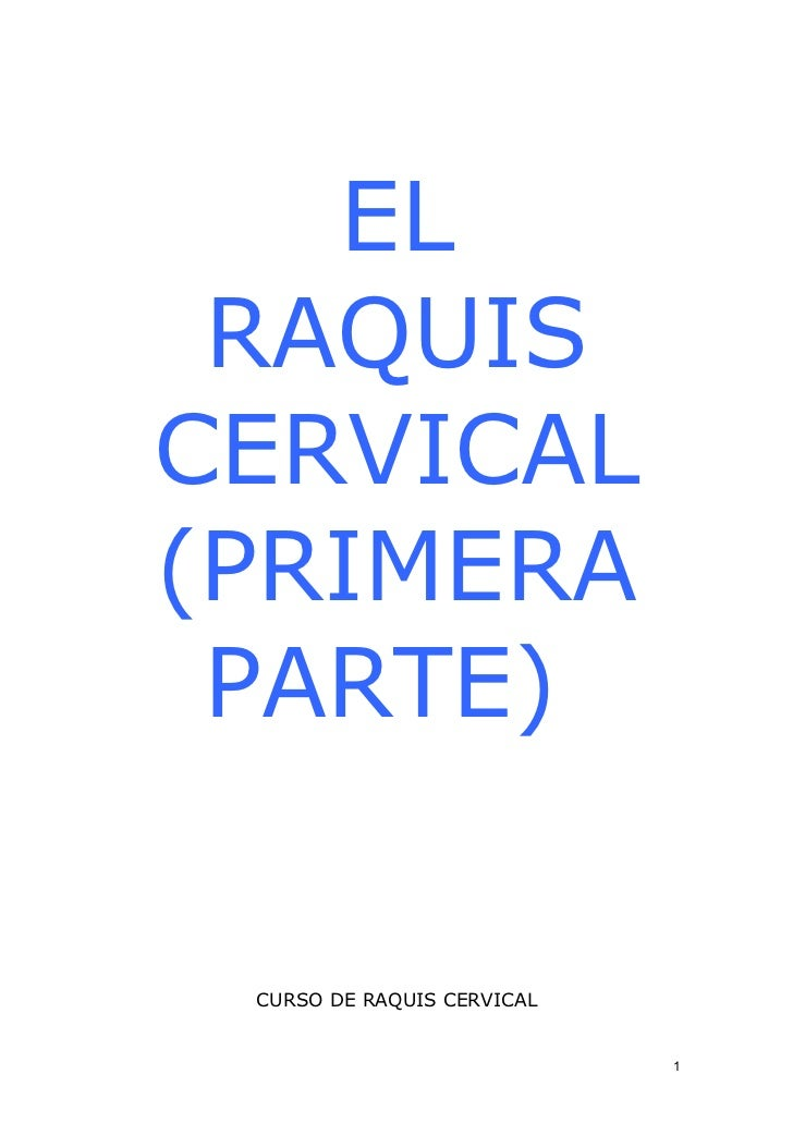 01 raquis cervical primera parte