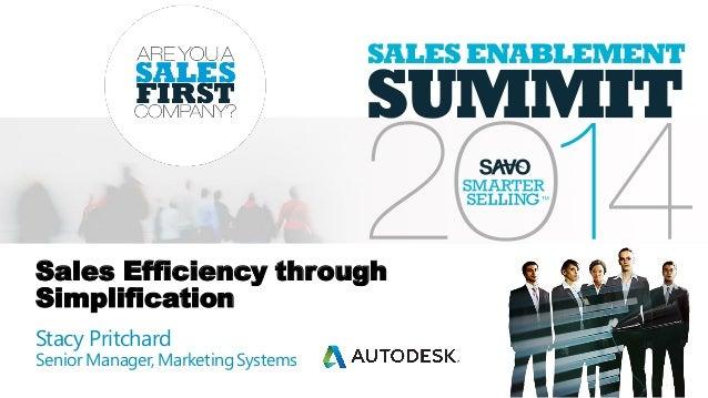 Sales Efficiency through Simplification (Autodesk)