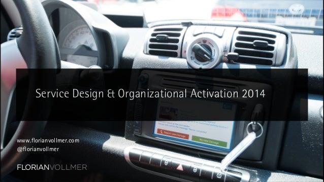 01 Service Design and Organizational Activation 2014