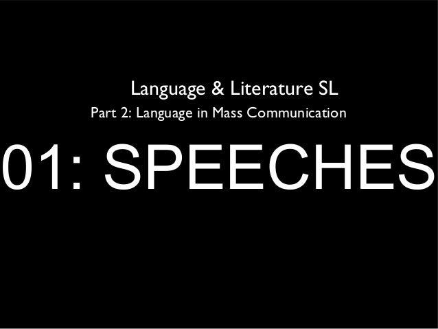 LIMC 01: SPEECHES