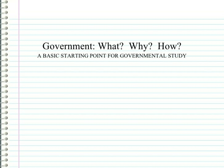 State and government notes