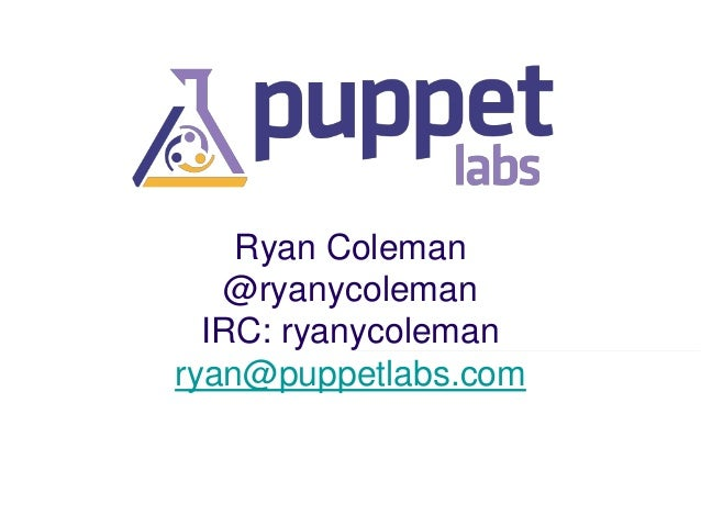 State of Puppet - Puppet Camp Silicon Valley 2014