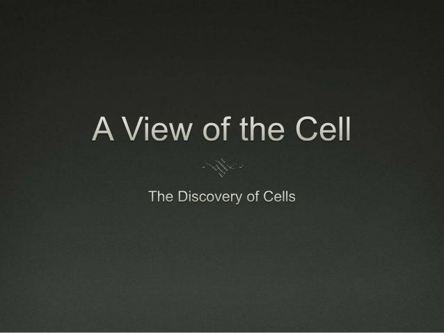 01 the discovery of cells
