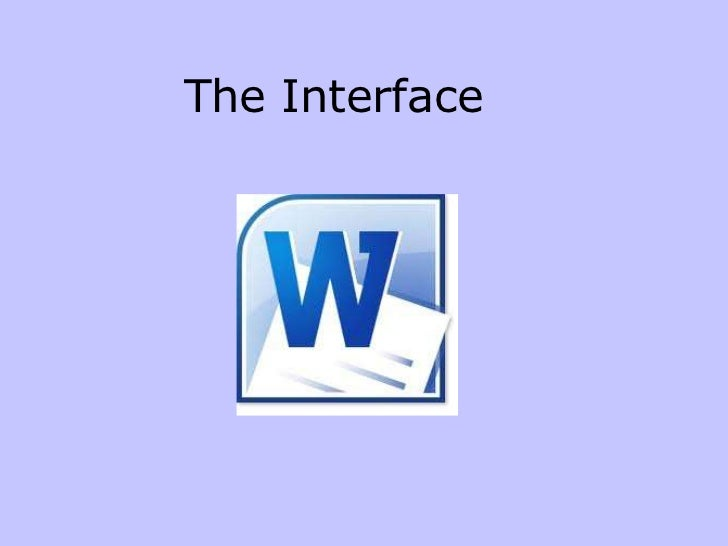 01 the interface