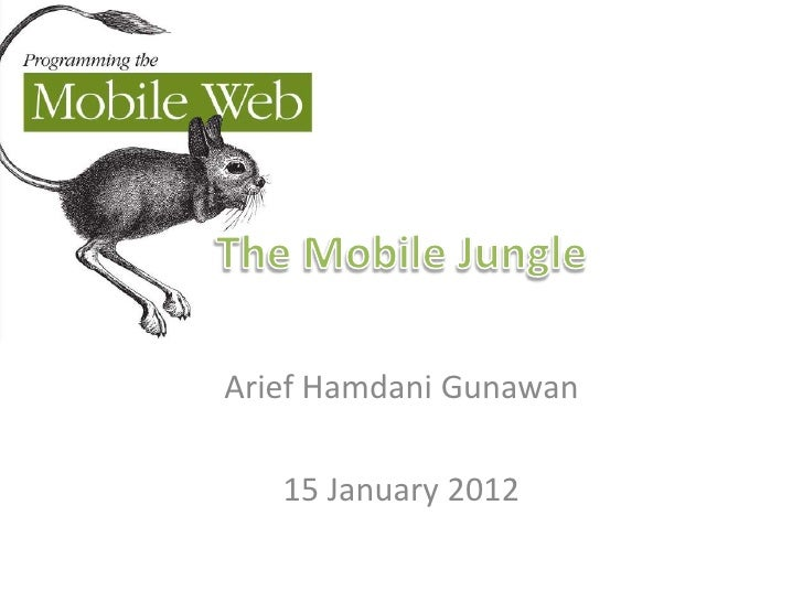 Arief Hamdani Gunawan   15 January 2012