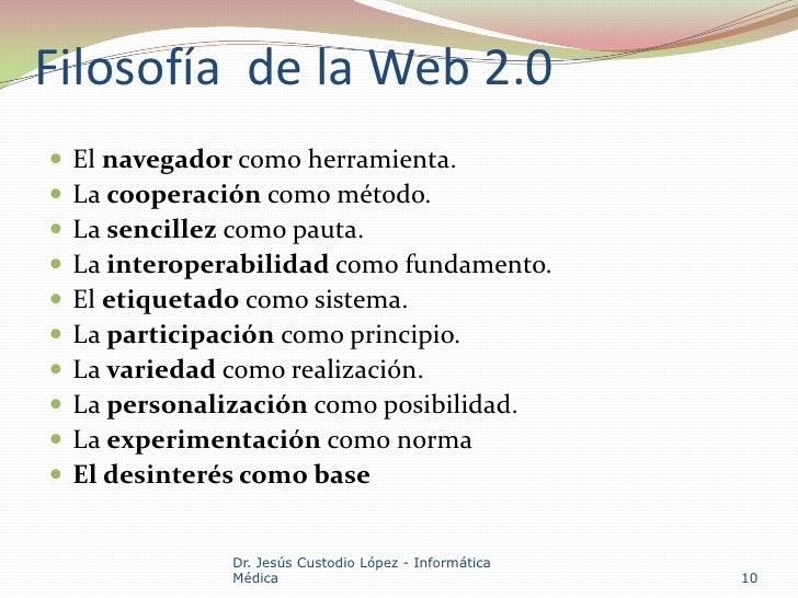 Herramientas Con Filosofia Web 2.0 Filosofía de la Web 2.0 el