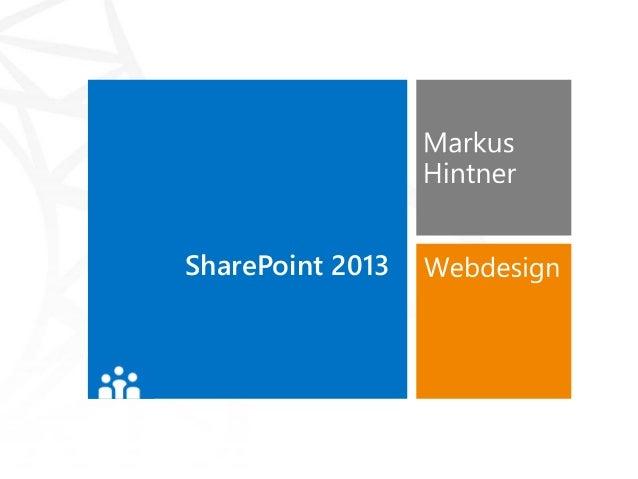 Webdesign mit SharePoint 2013