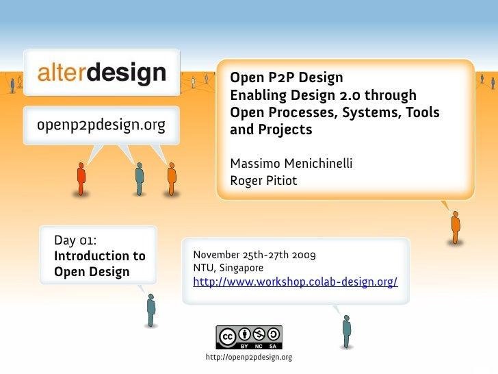 NTU Workshop: 01 What Is Open Design