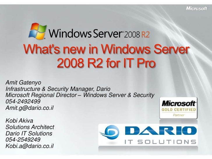 What's New In Windows Server 2008 R2 For IT Pro